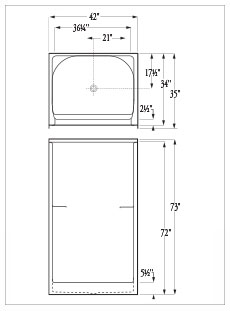 Florestone Model 42 3WTB Fiberglass Shower